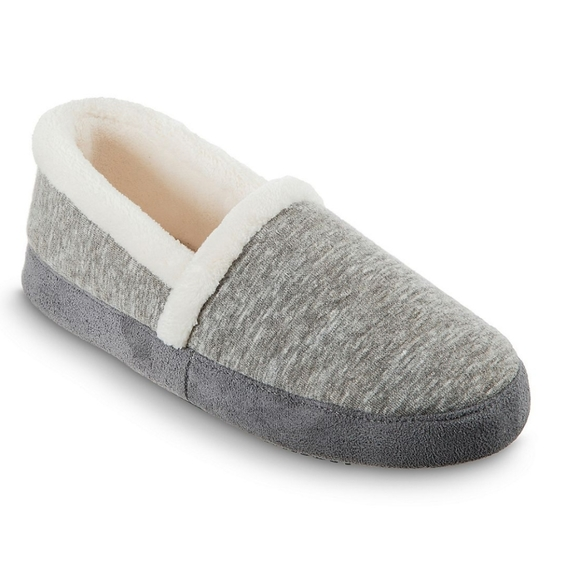 Isotoner Heather knit memory foam slipper L (8-9)